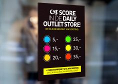 score in de daily outlet store!