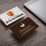visitekaartje met coldfoil