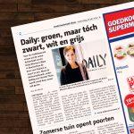 persbericht 'groen, maar tóch zwart, wit en grijs'